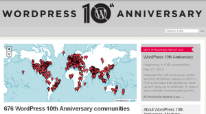 WordPress 10th Anniversary – We Love WordPress